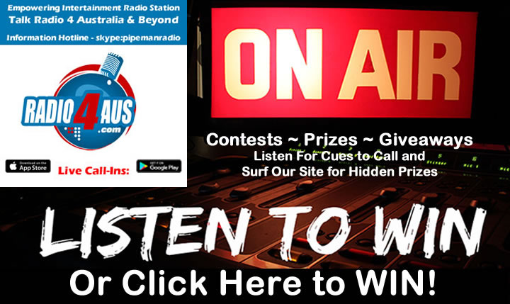 On Air - Listen to Radio 4AUS to WIN!